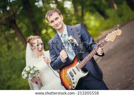 dancing at the wedding  - stock photo