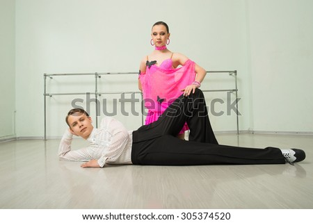 Dancing, ballroom dancing, dance studio, man and woman