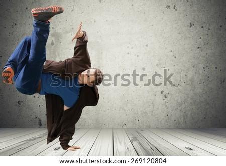 Dancing, Child, Breakdancing. - stock photo