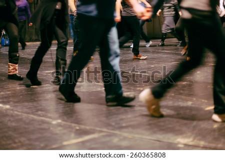 dancing class - stock photo