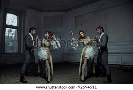 Dancing couples - stock photo