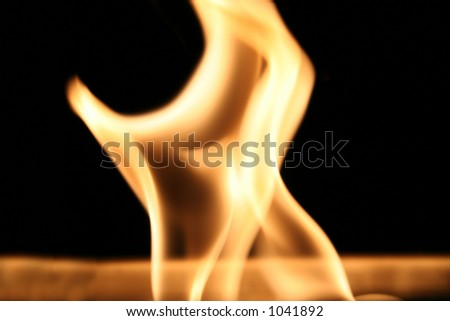 Dancing flame - stock photo