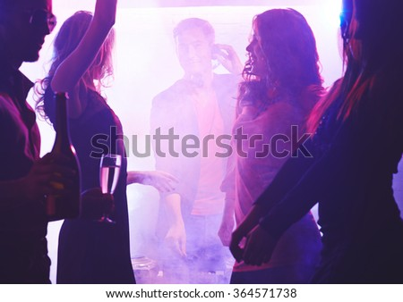 Dancing friends - stock photo