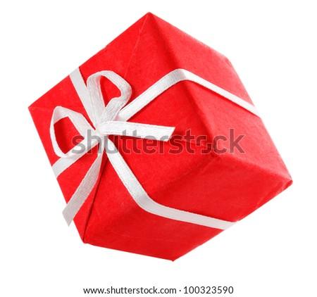 dancing gift box - stock photo