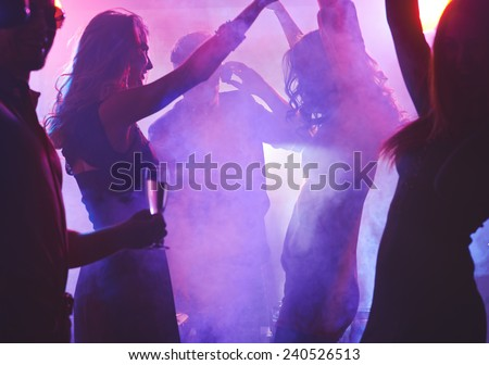 Dancing girls enjoying cool party