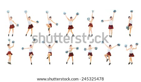 Dancing Group Together we'll Win  - stock photo
