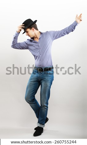 Dancing guy - stock photo