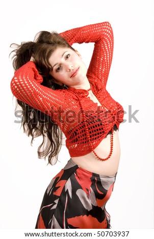 dancing Gypsy 4 - stock photo