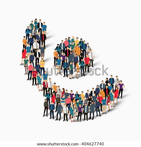 Abstract Business Symbol People Stock Illustration 454019575
