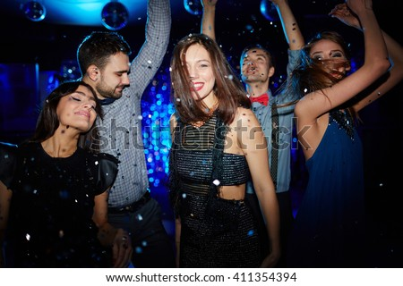 Dancing party - stock photo