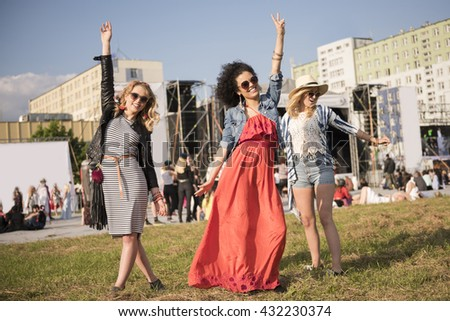 Dancing to their favorite music