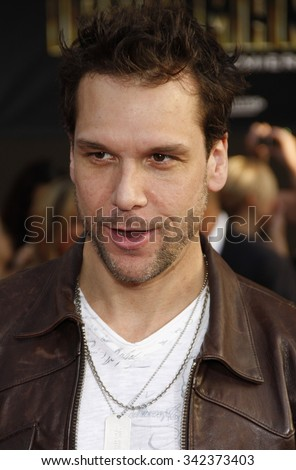 "Dane Cook at the World Premiere of ""Iron Man 2"" held at the El Capitan Theater in Hollywood, California, United States on April 26, 2010."