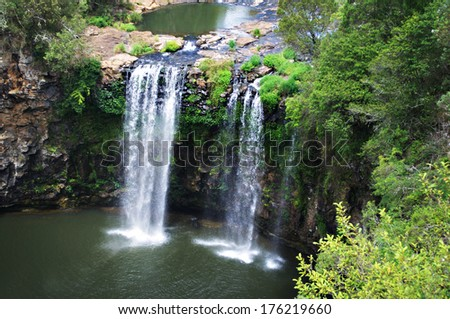 Dangars falls, view at the top, NSW, Australia