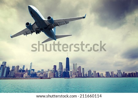 Danger Flight - stock photo