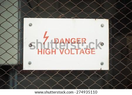 Danger High Voltage - stock photo