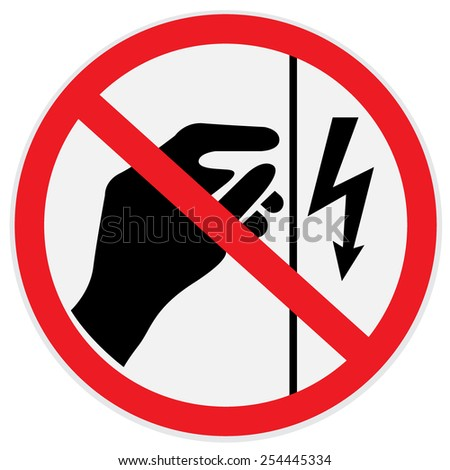 Danger, high, voltage, do not touch, sign, clip art - stock photo
