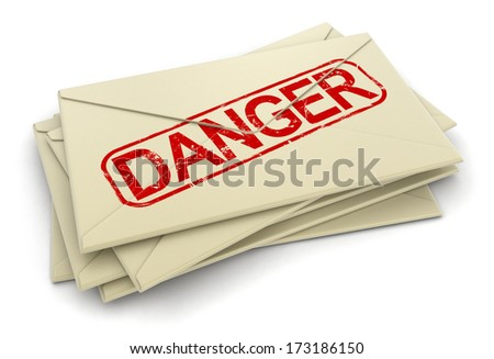 Danger letters  (clipping path included)