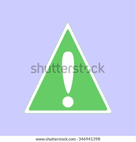 Danger Sign isolated on light blue background.