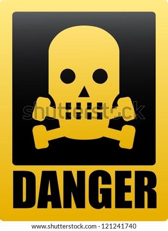 Danger sign. Raster version of the loaded vector - stock photo