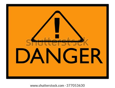 Danger Sign Symbols Stock Illustration 377053630 Shutterstock