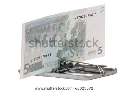 Dangerous euro - stock photo