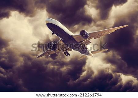 Dangerous Flight - stock photo