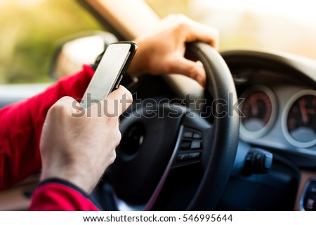 Dangerous texting and driving at the same time