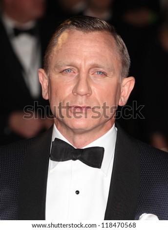 Daniel Craig arriving for the Royal World Premiere of 'Skyfall' at Royal Albert Hall, London. 23/10/2012 - stock photo