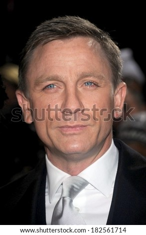 Daniel Craig at Screening of QUANTUM OF SOLACE for Tribeca Film Institute, AMC Lincoln Square Theatre, New York, NY, November 11, 2008 - stock photo