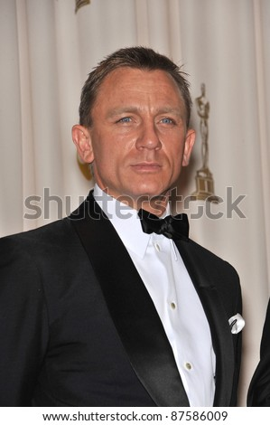 Daniel Craig at the 61st Annual Academy Awards at the Kodak Theatre, Hollywood. February 22, 2009 Los Angeles, CA Picture: Paul Smith / Featureflash - stock photo