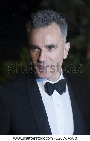 Daniel Day Lewis arriving for the 2013 BAFTA After Party, Grosvenor House Hotel Park Lane, London. 10/02/2013 Picture by: Simon Burchell - stock photo