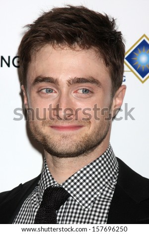 "Daniel Radcliffe at the ""Kill Your Darlings"" Premiere, Writers Guild Theater, Beverly Hills, CA 10-03-13 - stock photo"