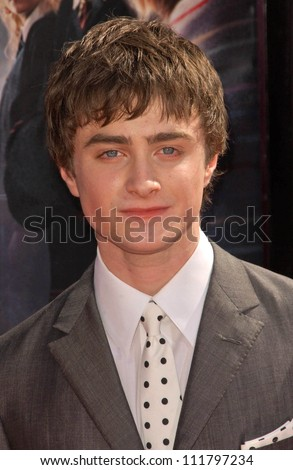 """Daniel Radcliffe at the premiere of """"Harry Potter and The Order of The Phoenix"""". Grauman's Chinese Theatre, Hollywood, CA. 07-08-07 - stock photo"""