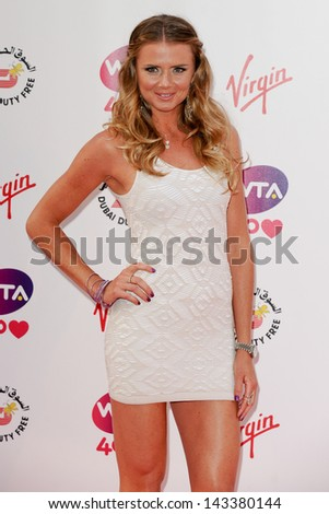 Daniela Hantuchova arriving for the WTA Pre-Wimbledon Party 2013 at the Kensington Roof Gardens, London. 20/06/2013 - stock photo