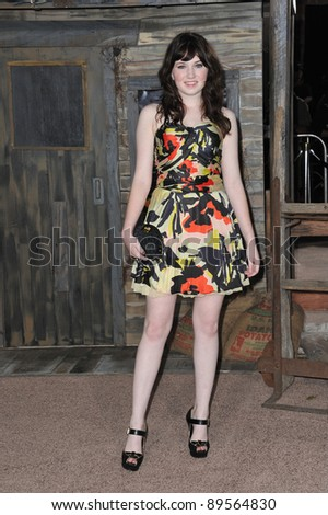 "Danielle Hanratty at the Los Angeles premiere of the animated movie ""Rango"" at the Regency Village Theatre, Westwood. February 14, 2011  Los Angeles, CA Picture: Paul Smith / Featureflash"