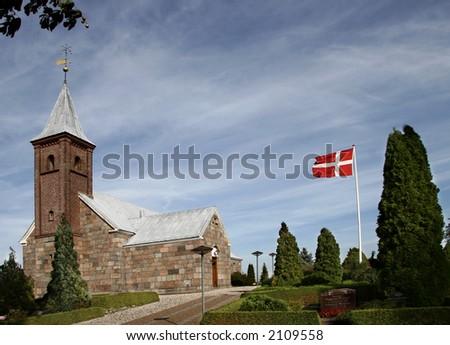 Danish Church - stock photo