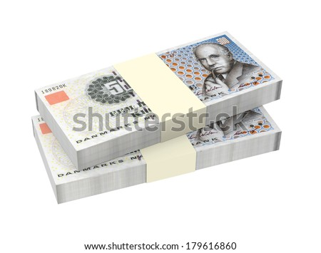 Danish krone isolated on white background Computer generated 3D photo ...