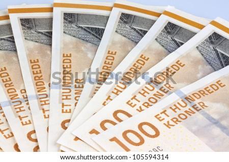 danish kroner. currency from denmark in europe. - stock photo