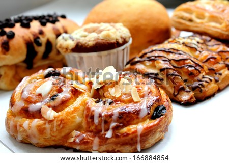 danish pastry - stock photo