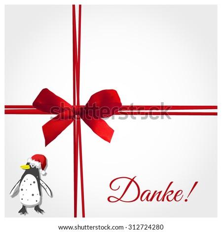 danke - thank you in german - stock photo