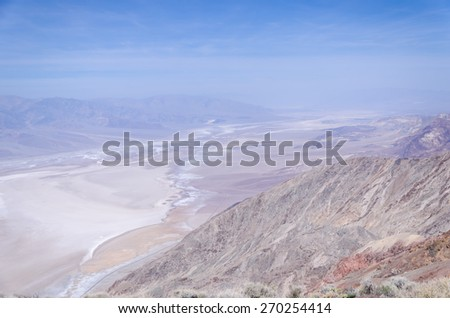 Dante's view in Death Valley National Park, California, USA - stock photo