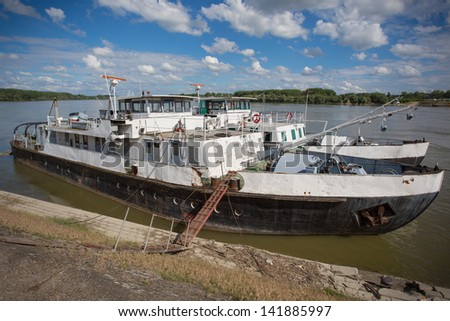 Danube river barge