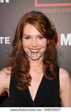 "Darby Stanchfield  at the Premiere of ""Mad Men"" Season 2. Egyptian Theatre, Hollywood, CA. 07-21-08"