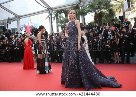 Daria Strokous attends the 'Loving' Photocall at the annual 69th Cannes Film Festival at Palais des Festivals on May 16, 2016 in Cannes, France. - stock photo