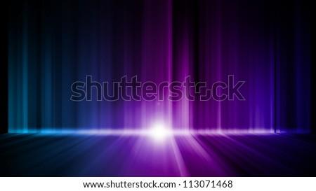 Dark abstract Aurora Wallpaper background - stock photo