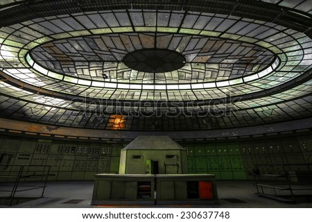 Dark and abandoned place - stock photo