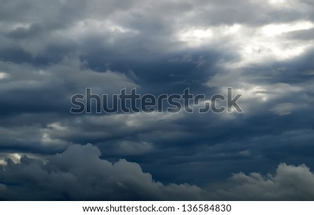 Dark and Dramatic Storm Clouds - stock photo
