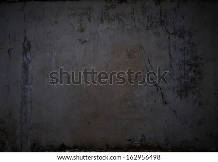 Dark background image of black wall. Place for text - stock photo