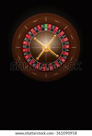 Dark Background of casino roulette. Symbol of gambling. Realistic  Illustration. - stock photo