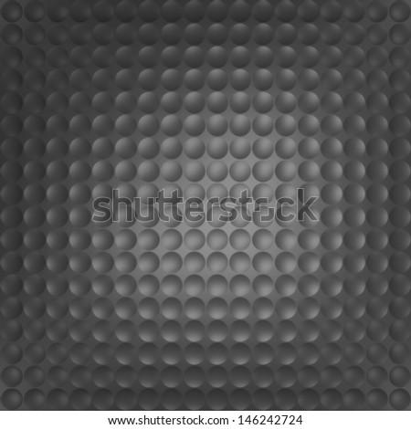 Dark baxkground of a golf ball - stock photo